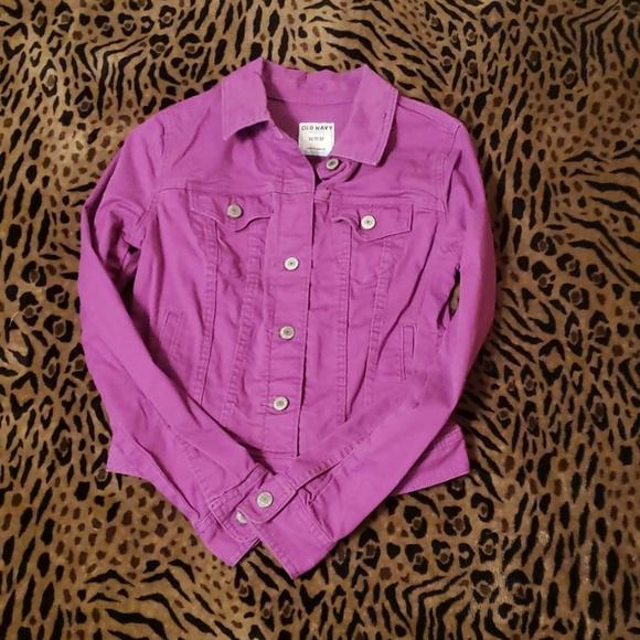 Old Navy Jackets & Blazers - Purple old navy jean jacket